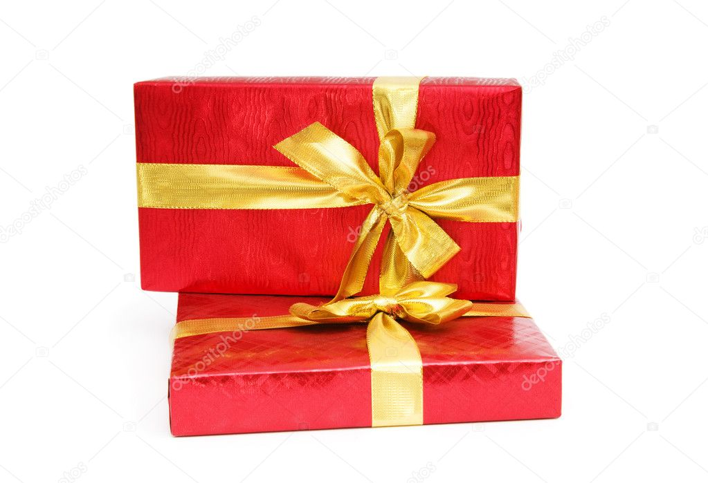 Gift box isolated on the white background — Stock Photo #4349513
