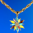 Pendant against colour gradient background - Foto Stock