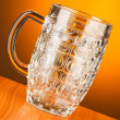 Royalty-Free Stock Photo: Beer glass against gradient background