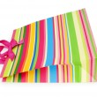 Stock Photo: Striped gift bag isolated on the white background