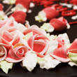 Close up of rose decoration on the cake — Stock Photo #4357959