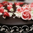 Stock Photo: Close up of cake with decoration flowers