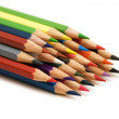 Colour pencils isolated on the white background — Stock Photo