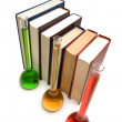 Stock Photo: Books and tubes - shallow depth of field