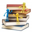 Stock Photo: Back to school concept with books and smilies