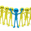 Stock Photo: Stand out from crowd concept with smilies