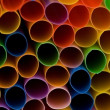Lots of drinking straws of various colors — Stock Photo