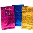 Colorful bags isolated on the white background — Stock Photo