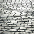 Cobbles on street - cbe used as background — Stock Photo #4359604