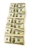 Stack of dollars isolated on the white — Stock Photo