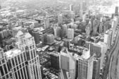 Chicago downtown area - vintage style black and white photo — Foto de Stock
