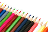 Various pencils isolated on the white background — Φωτογραφία Αρχείου
