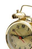 Close up of alarm clock isolated on white — Stock Photo