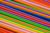 Lots of drinking straws of various colors — Stock fotografie