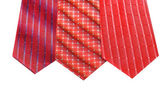 Selelction of ties isolated on the white — Stock Photo