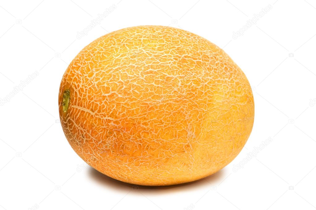 Yellow melon isolated on the white background  Stock Photo #4359223