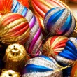 Colourful christmas decoration on a shiny background — Stock Photo #4360240