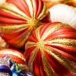 Colourful christmas decoration on a shiny background — Stock Photo #4360322