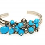 Bracelet with blue stones isolated on white — Stock Photo #4360850