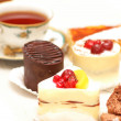 Stock Photo: Various sweets with shallow depth of field