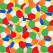 Background made of many colourful footballs — Stock Photo
