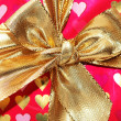 Close up of bow in gift box — Stock Photo