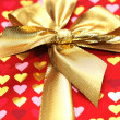 Close up of the shiny gift box — Stock Photo #4361855