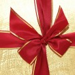 Stock Photo: The ribbon and bow of the giftbox