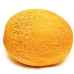 melão amarelo isolado no fundo branco — Foto Stock