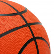 Orange basketball isolated on the white background — Stock Photo