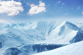 High mountains under snow in the winter — Стоковое фото