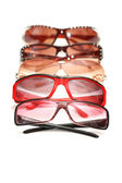 Various sunglasses isolated on the white background — Stock Photo