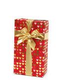 подарочная коробка, изолированные на белом фоне — Стоковое фото