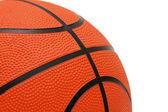 Oranje basketbal geïsoleerd op de witte achtergrond — Stockfoto