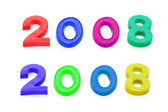 "2008"" numbers isolated on the white background — Stock Photo"