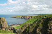 Coastline of Scotland during bright summer day — Stock Photo