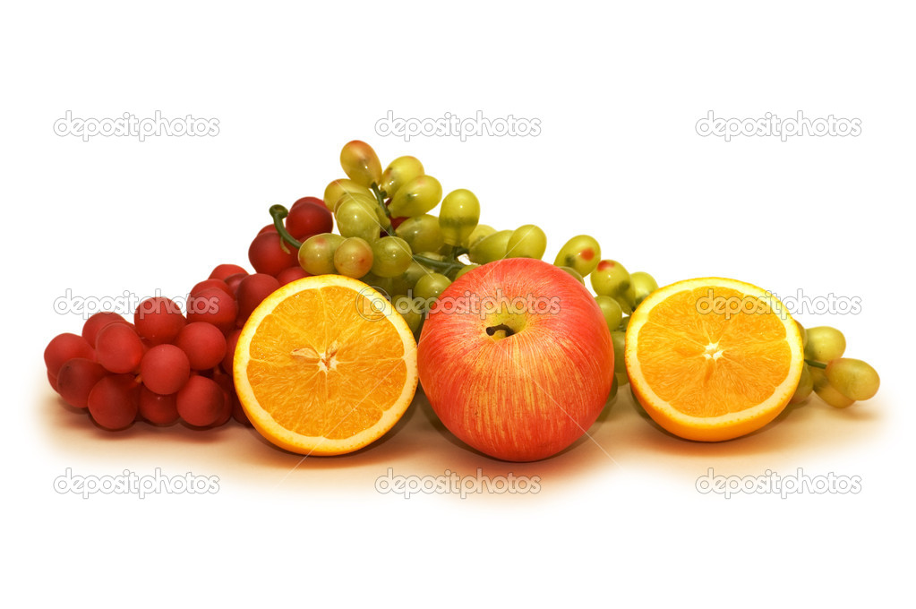 Various fruits isolated on the white background — Stock Photo #4360614