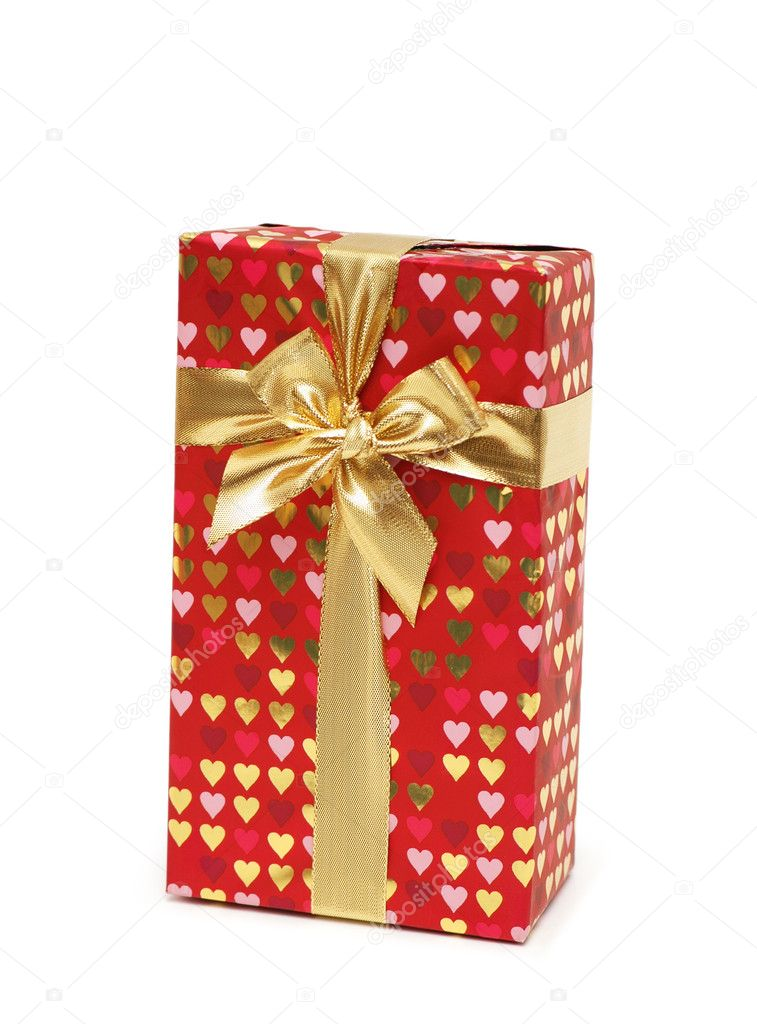 Gift box isolated on the white background  Stock Photo #4363516