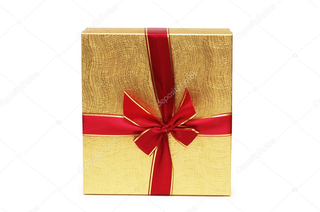 Gift box isolated on the white background — Stock Photo #4367006