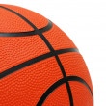 Orange basketball isolated on the white background — Stock Photo