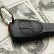 Car remote over the hundred dollar banknotes — Stock Photo #4370926