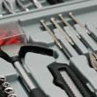 Royalty-Free Stock Photo: Various DYI tools in the toolkit box