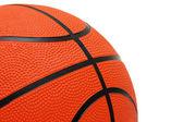 Oranžové basketbal izolovaných na bílém pozadí — Stock fotografie