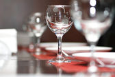 Wine glasses on the table - shallow depth of field — Stock Photo