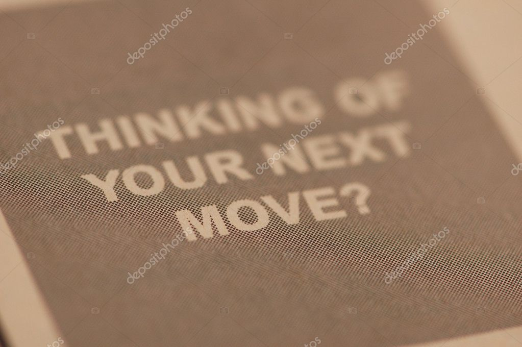 Thinking of your next job move  question from newspaper — Stock Photo #4376617