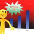 Smilie making presentation about company's business success — Stock Photo
