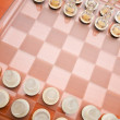 Royalty-Free Stock Photo: Set of chess figures on the playing board