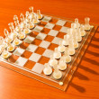 Set of chess figures on the board — Stock Photo #4417001