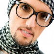Man with glasses in studio shooting — Stock Photo #4418436