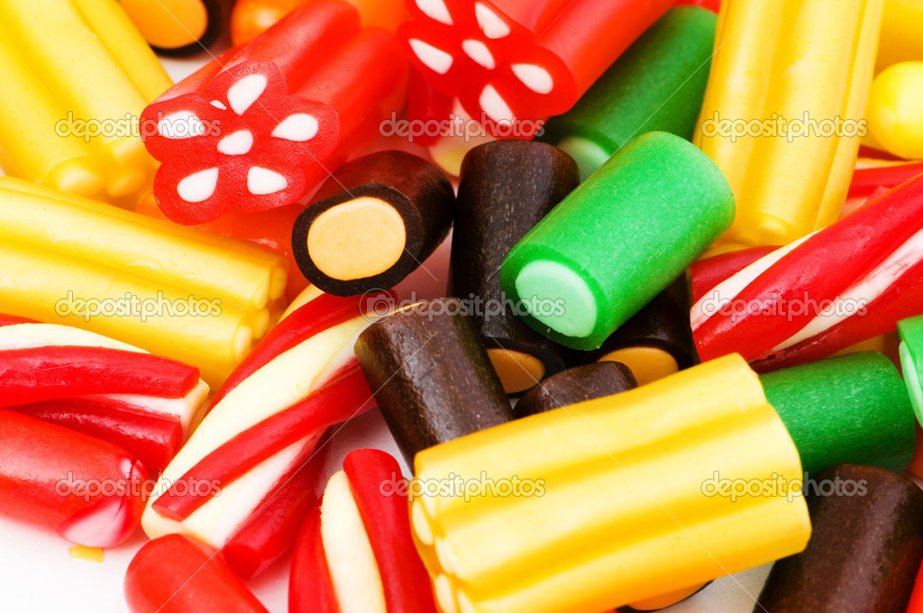 Background made of colourful sweets — Stock Photo #4414187
